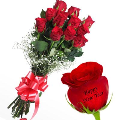 talking roses print on rose 12 red roses happy new year send new year talking roses to india hyderabad us2guntur