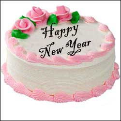 Rosy Pink Delight 1kg Cake Vanilla Flavour Send New Year Cakes To