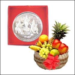 Silver Lakshmi Kalasam - (approx  100 Grams)(Goddess Laxmi