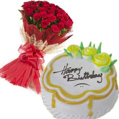 Send Midnight Cakes And Flower Gifts To Hyderabad Vizag Vijayawada