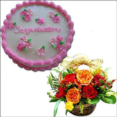 Send Cakes And Flowers To Hyderabad Vizag Vijayawada Guntur