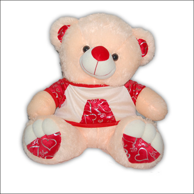 Cream N Red Teddy KT-036 -4 - Click here to View more details about this Product
