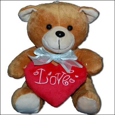 Brown Teddy with holding Heart - Click here to View more details about this Product