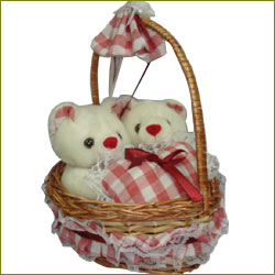 Bride & Groom teddy bears-(PNP 1750) - Click here to View more details about this Product