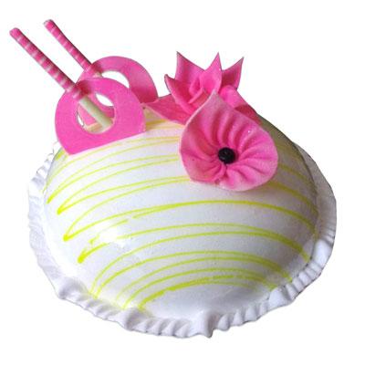 Send Floral Design Round Shape Vanilla Cake 3kgs To India