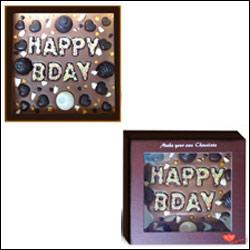 "Chocolates with ""Miss U"" message"