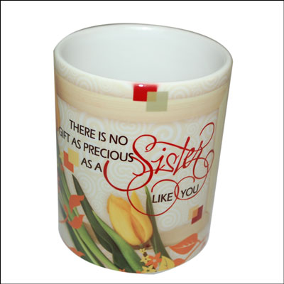 Mug with Message (Sister) - code01 - Click here to View more details about this Product