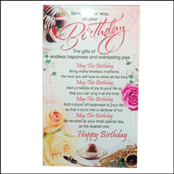 Happy Birthday Message Stand - Click here to View more details about this Product