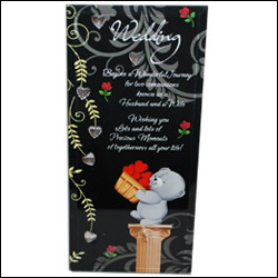 Desktop Message Stand  (Wedding) - Click here to View more details about this Product