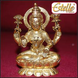 Goddess Laxmi - (Estelle)(code-LAX-03) Antique - Click here to View more details about this Product