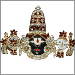Balaji with white stone work - Click here to View more details about this Product