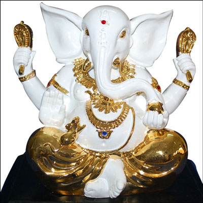 Marble Finish Ganesh Big Idol - Click here to View more details about this Product