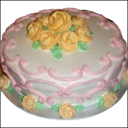 Sweet Roses Cake - 1.5kg - Click here to View more details about this Product