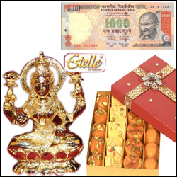 Cash Rs. 1000 + Goddess Laxmi Idol - Click here to View more details about this Product