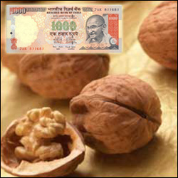 Cash Rs. 1000 + Dryfruit Walnuts -500gms - Click here to View more details about this Product
