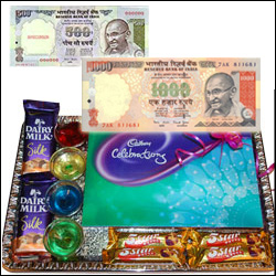 Cash Rs. 1500 + Choco Thali - Click here to View more details about this Product