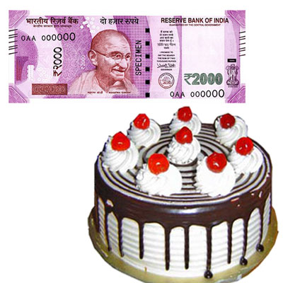 Cash - Rs. 2001 + 1kg cake - Click here to View more details about this Product