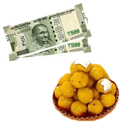 Cash - Rs. 1001 + 500gms of Laddu sweet - Click here to View more details about this Product