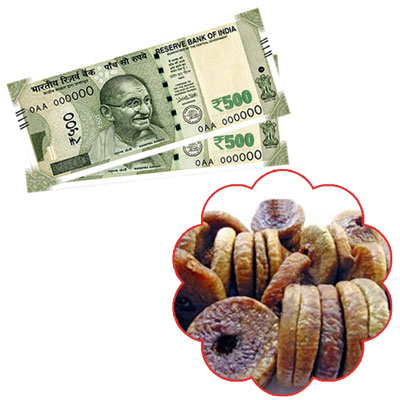 Cash Rs.1001 + 500gms of dryfruit anjeer - Click here to View more details about this Product