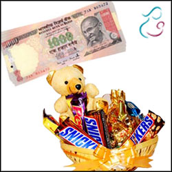 Cash Rs.1001 + Chocolate basket - Click here to View more details about this Product