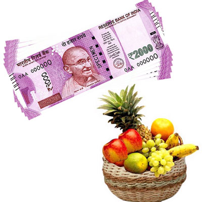 Cash - Rs. 10,001 with fruits - Click here to View more details about this Product