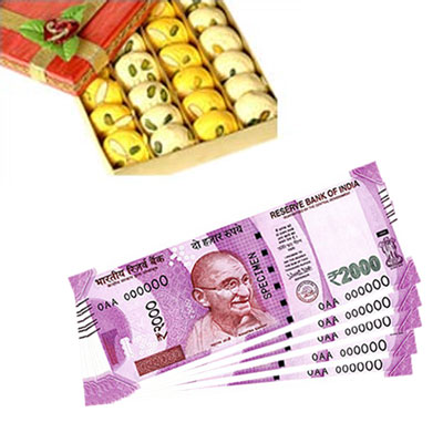 Cash - Rs. 10,001 with sweets - Click here to View more details about this Product