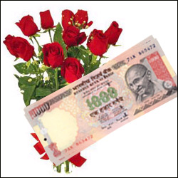 Cash - Rs. 5,001 with flowers - Click here to View more details about this Product