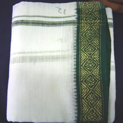 Pure Ponduru Khaddar White Dhoti & Kanduva - Click here to View more details about this Product