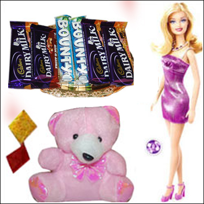 Kids Rakhi Hamper - code04 - Click here to View more details about this Product