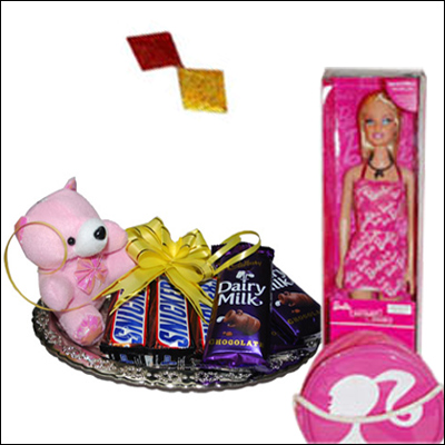 Barbie with Teddy Choco Bag - Click here to View more details about this Product