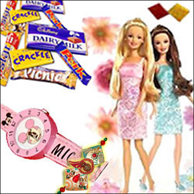 Style Barbie + Kids Watch and chocos - Click here to View more details about this Product