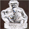 Small Sitting Ganapathi  ( Diamond Crystal  ) - Click here to View more details about this Product
