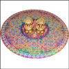Rangoli Sticker + 2 Kamakshi Diyas - Click here to View more details about this Product