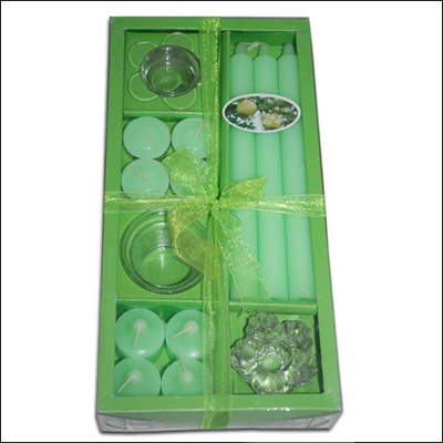 Perfumed Candles Box - Green color - Click here to View more details about this Product