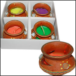Designer Mutka Diyas (4 pieces) - Click here to View more details about this Product