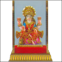 Lakshmi seated on a decorated lotus - Click here to View more details about this Product