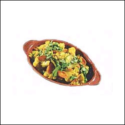 Alu Gobi Mutter - 1 plate - Click here to View more details about this Product