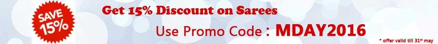 15% Discount on Sarees