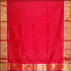 Red Color Plain Uppada pattu saree SLU-1 - Click here to View more details about this Product