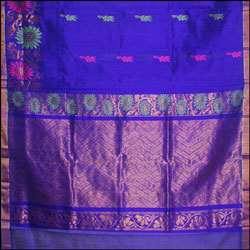 Exclusive Kollam pattu Royalblue color saree (With Blouse ) SLU-32 - Click here to View more details about this Product