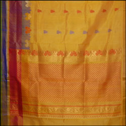 Exclusive Kollam pattu Mustard color saree (With Blouse ) SLU-34 - Click here to View more details about this Product