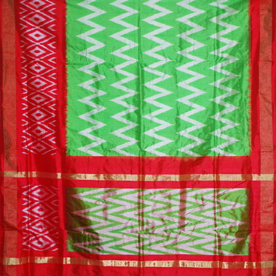 e295731bf86db Exclusive Pochampally Ikkat Saree - IKK -33 (With Blouse) - send Ikkat N Uppada  Pattu Sarees to India