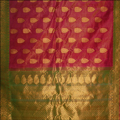 Exclusive Maroon color Tissue  saree - MHM-24 - Click here to View more details about this Product