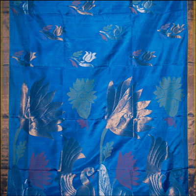 Anandablue Color Uppada Pattu Saree SLU-74 - Click here to View more details about this Product