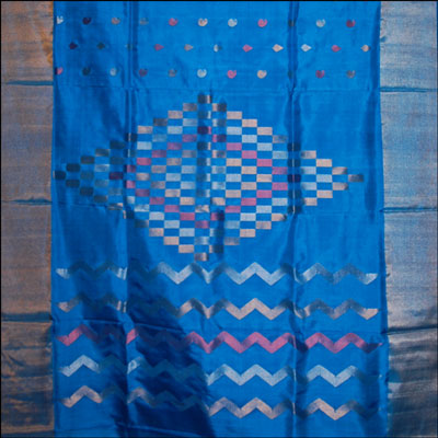 Anadablue Color Uppada Pattu Saree SLU-75 - Click here to View more details about this Product