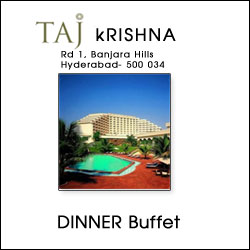 Taj  Krishna Hyderabad - 31st Dec - Couple(Emerald Event) - Click here to View more details about this Product