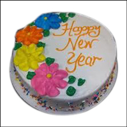 New Year Round vanilla  Cake - 1.5kgs - Click here to View more details about this Product
