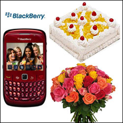 Cellphone Surprise - Black Berry 8520 RED Mobile - Click here to View more details about this Product