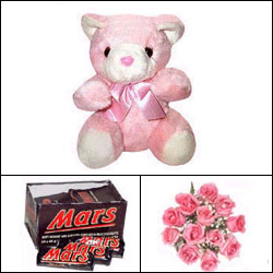 Pink Bear n Chocolate Combo - Click here to View more details about this Product