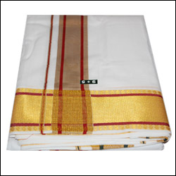 Premium Dhoti with big border (Model No:Poornakumbham- CCM696J) - Click here to View more details about this Product